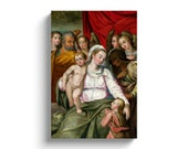 Madonna With Child Jesus, St Anne, St. John, St Joseph, and Angels, Saint Joseph, John the Baptist, saint anne, st anne, st anne de beaupre