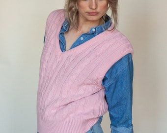 pink rib cage sweater vests
