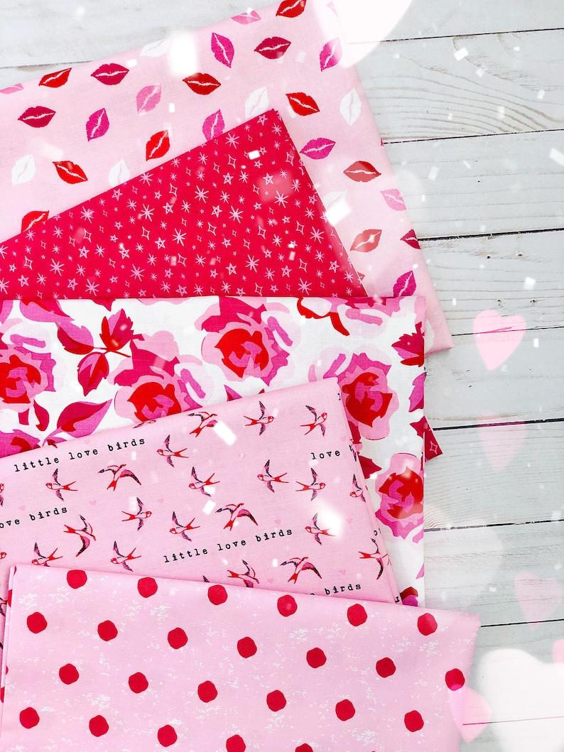 Kisses Ballerina Riley Blake Designs My Minds Eye Fabric by the Yard 100/% Premium Cotton Valentine/'s Day Sending Love Lips