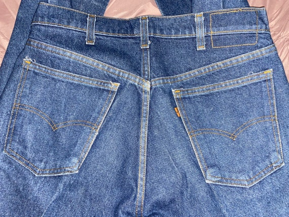34x36 vintage 80s/90s levi orange tan jeans, orang