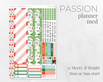 KIT52 | PASSION PLANNER | Monthly Kit Planner Stickers | December 2021 Kits | 52 Merry & Bright