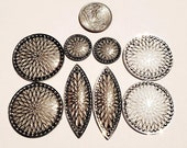 Four Pair of Assorted Cabochons Jewelry Making Acrylic Centers Native American Beading Supplies Craft supplies