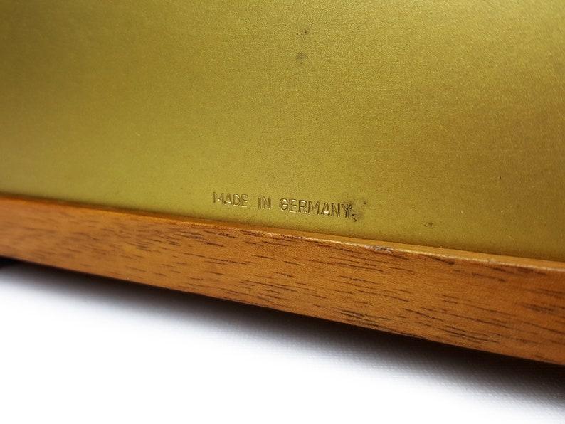 Mi-siècle JUNGHANS Horloge de bureau / vintage Bois Horloge de table en bois / Élégant Bauhaus Modernist Design / Mantel Shelf Clock 1970s 70s