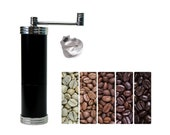 Coffee grinder made of cast iron Black coffee grinder Handmade mill Stepless grinding degree adjustment Gift