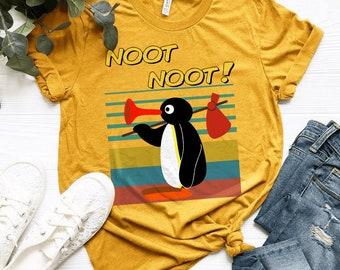Pingu Noot Noot ,Bella Canvas T-Shirt,Noot Noot Pingu Shirt,Funny Meme Gift T-Shirt,penguin lovers,noot noot penguin t-shirt