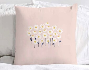 Flower Field Pillow Etsy