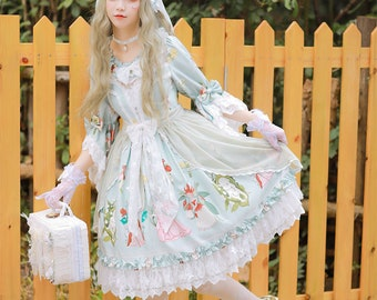 Flower Fairy in the Forest, Magic Tea Party, lolita dress
