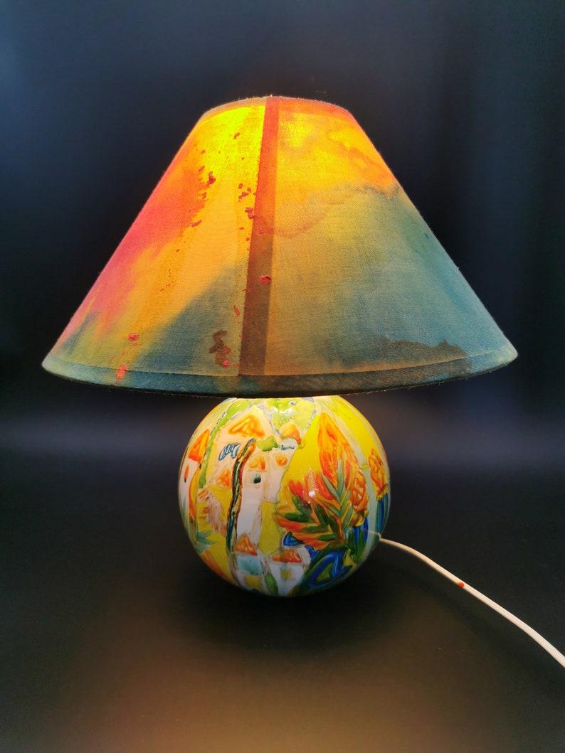 Lampada dipinta a mano/Seconda vita/Arte mindfulness/Pittura mTkJTYw9
