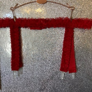 Mod vintage 60\u2019s St michael stretch lace garter belt burlesque sissy