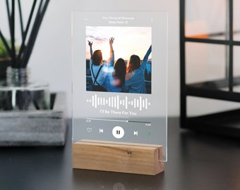 Personalised Custom Spotify Song Plaque with Stand, Couple Gift, Gift for Her, Gift for Him, Personalised Spotify Song, Birthday Gift