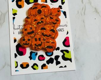 Halloween Pumpkin Patch Brooch/Pin or Fridge Magnet