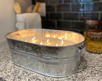 Giant Citronella Candle- 180 ounces- Biggest Soy Candle You've Ever Seen!