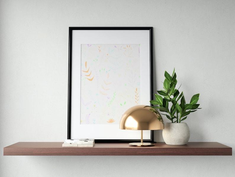Pastel Print Art 9 Style Options for Women Girls Home