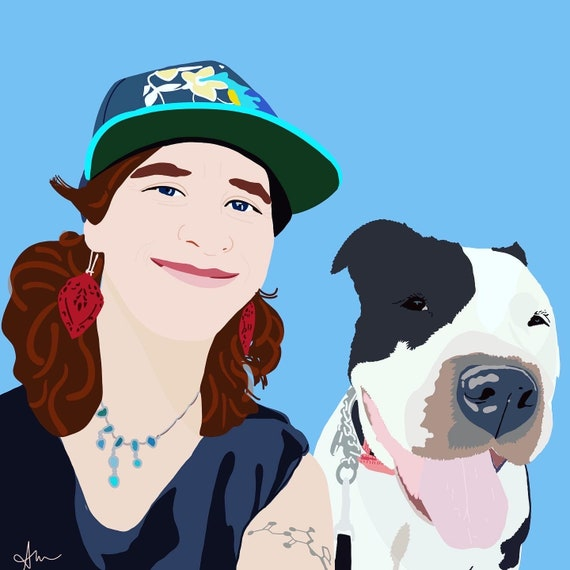 Custom Pet Portrait - Illustration