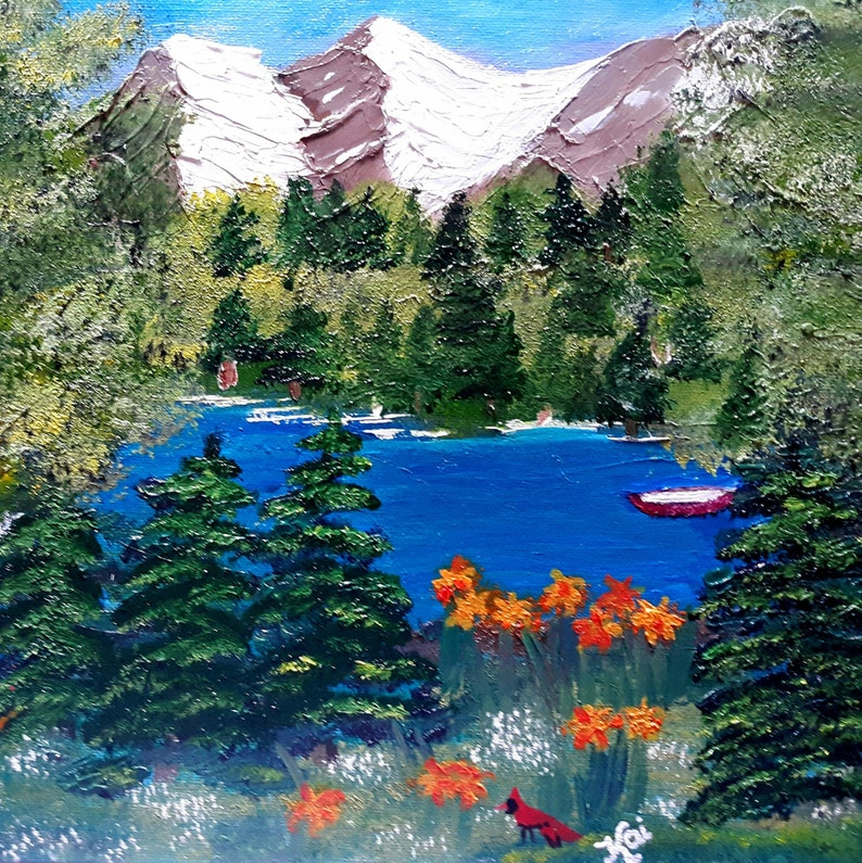 Beyond Beauty 11 x 14 Canvas Board Oil Painting Original