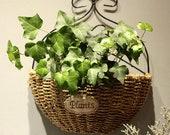 Wall Hanging Hand Straw Woven Flower Storage Basket Organizer Home Garden Decor Flower Home Pot panier osier basket for toys