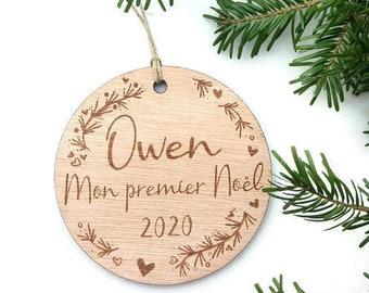 Premier 1st Noël comme Mr /& Mrs personnalisé en bois cœur Mari /& Femme Cadeau