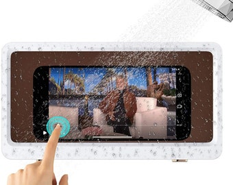 Marble Style Shower Bath Smart Phone Holder Viewer Stand Dock iPhone Android
