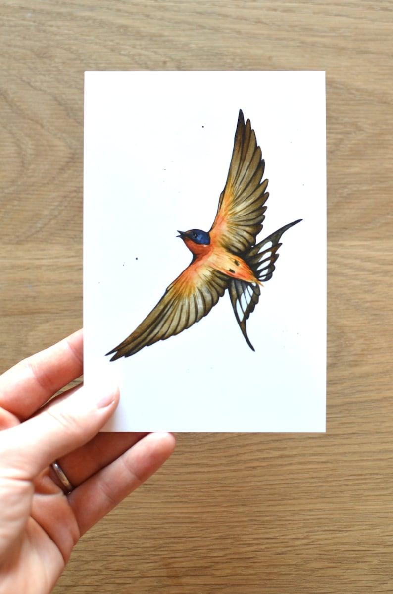mail warbler mini art birder cedar waxwing postage Bird Postcard Set of 8 or 16 prints woodpecker chickadee bird