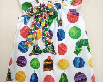 NEW Boutique Eric Carle Very Hungry Caterpillar Girls  Dress 2T 3T 4T 5T