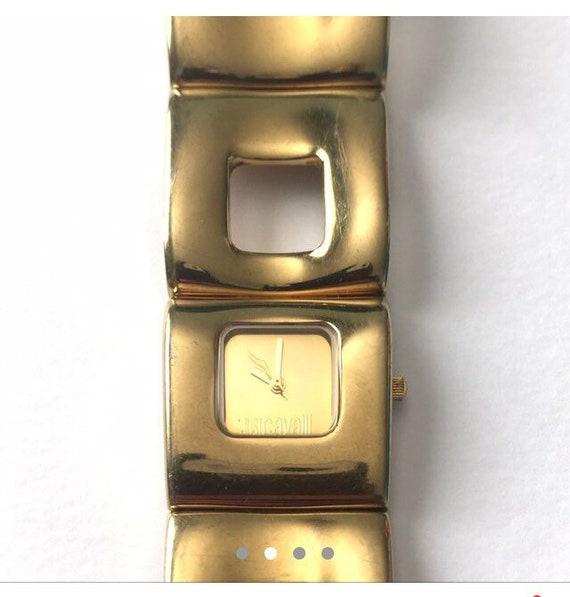 Vintage retro Y2k 00's gold tone ROBERTO CAVALLI (