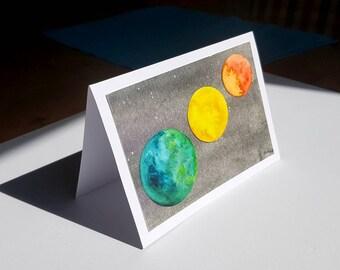 Celestial collection planètes SUPERBE Espace Personnalisé Anniversaire Carte
