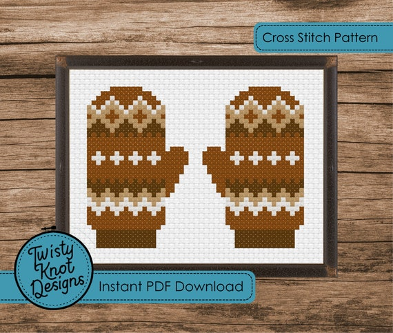 Bernie Sanders' mittens Cross Stitch Pattern