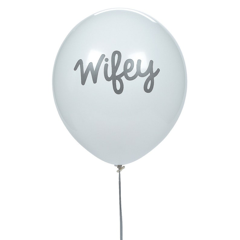 24 Pieces Party Decor Wifey 11 Latex Balloons