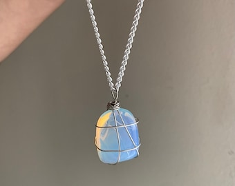 Opalite Wrapped Necklace