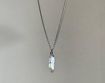 Aura Quartz Crystal Necklace