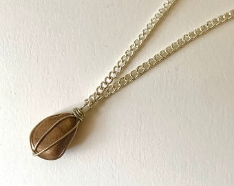 Tan Stone Necklace