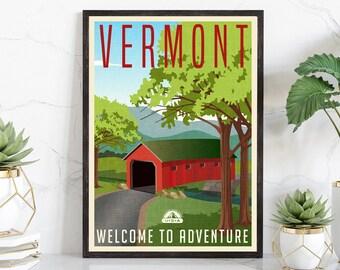 NEW U.S Travel Poster Vermont