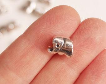 5/10/20pcs Antique Elephant Spacer, Tibetian Spacer, Elephant Bead, Metal Elephant Bead, Metal Bead for European bracelet