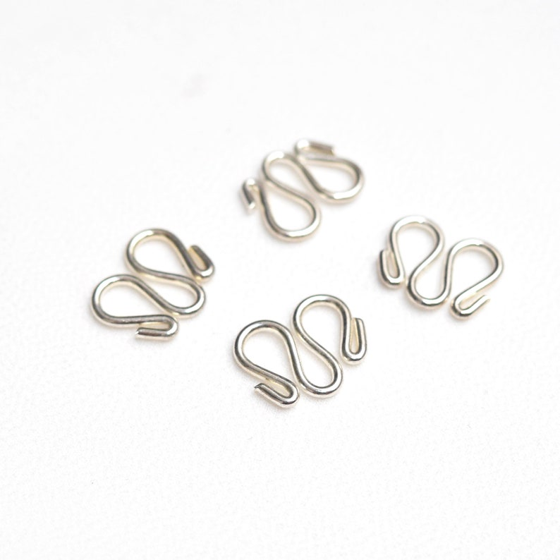 Silver Jewelry S wire clasp 102050pcs Silver tone S wire hook clasp Shiny silver plated hook clasp Fasteners Silver S wire hook clasp