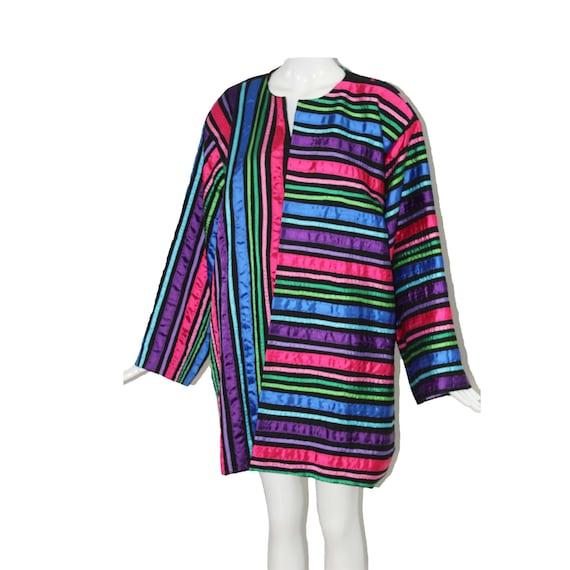 Rare Vintage Tachi Castillo 80s Colorful Ribbon Ja