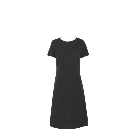 Norman Wiatt Knits 1960s Vintage Black Day Dress