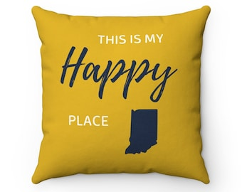 Sports Room Man Cave Kid Room Bar Team Spirit Pillows Fan Notre Dame Inspired Cotton Broadcloth Remnant Sport Enthusiast Football