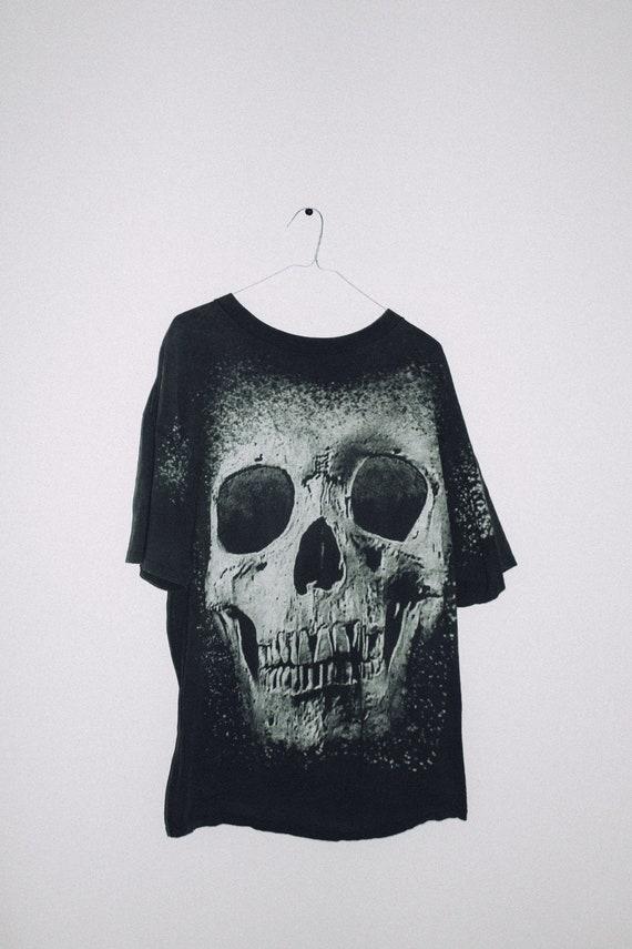 Biketoberfest Skull Vintage 90s All Over Prin Hall