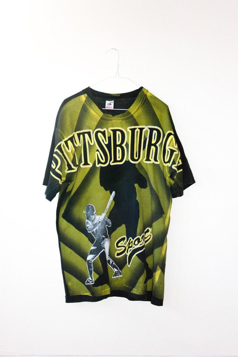 Pittsburgh Baseball Vintage 90s Single Stitch All Over Print T-shirt