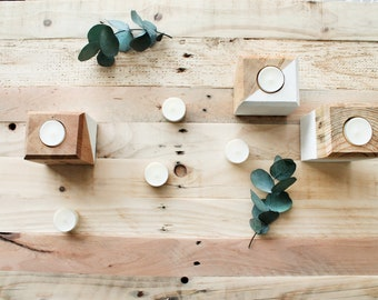 Wooden Tea Light Holder  - Rustic Decor - Boho Decor - Candle Holder - Home Decorations - Modern Farmhouse