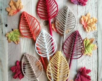Leaf Decor, Handmade Broadleaf, Leaf Decor, Twine, Home Decor, Flower Arrangements, Dry Floral, Artificial, Autumn, Accessories, Boho Decor