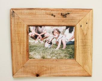 Reclaimed Wood - Handmade - Rustic Classic Hanging Frame - Natural Wood Frame - Rustic Frame -  Farmhouse Frame - Coastal Frame