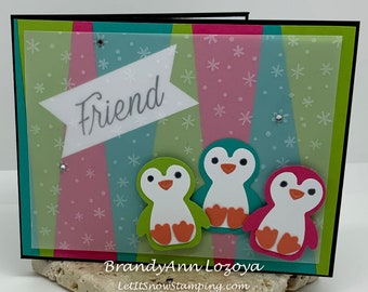 Penguin Friend Blank Greeting Card for Any Occasion