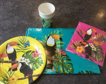 20 x Paper Napkins Table Party Decoupage Bird of Paradise 142