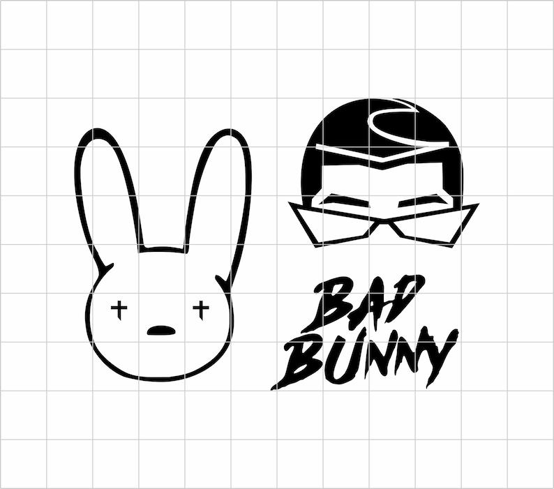 Bad Bunny Svg Bad Bunny Logo Svg Bad Bunny Face Bad Bunny ...