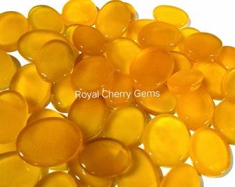 Attractive Yellow Onyx Gemstone Cabochon For Designer Jewelry Making Stone 27X19X6 mm Beautiful Coffin Shape Gemstone