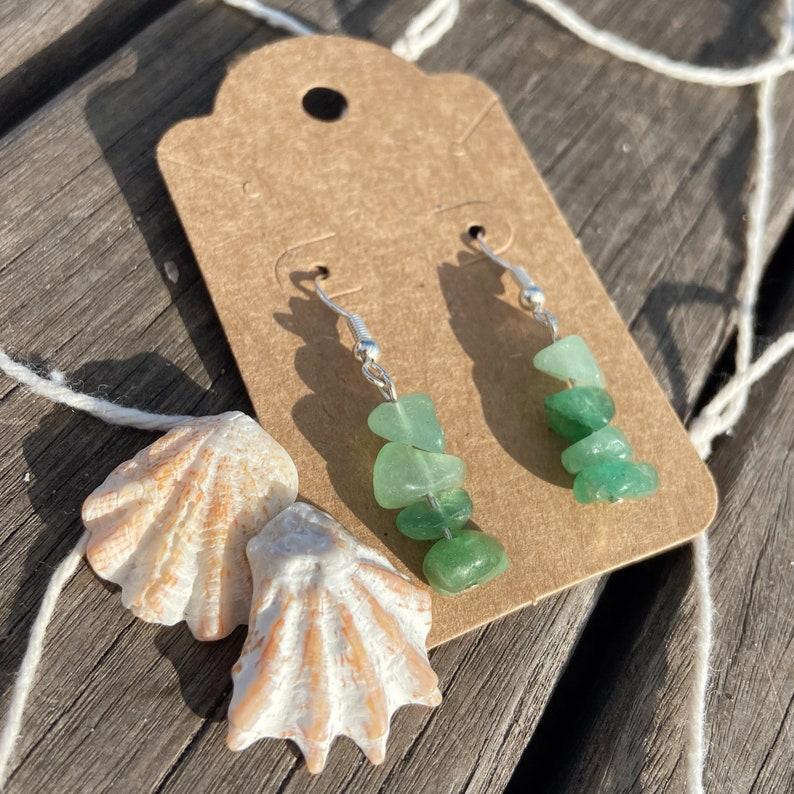 Seafoam Green Amazonite Earrings