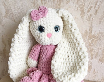 Knitted hare, Knitted bunny, Plush bunny