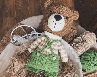 Cute Knitted Bear, Gift For Birthdays