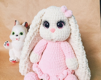 Children gift Crochet Bunny Children's toys Cute toys Baby Stuffed toy gift for a child Miniature toys Pet toys plush gift for children Anim